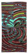 Janca Abstract Ovoid Panel 9646w9a Beach Towel