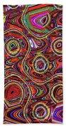 Janca Abstract Panel #097e10 Beach Towel