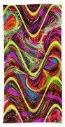 Janca Abstract Wave Panel #5at Beach Towel