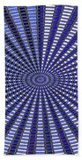 Janca Blue Oval Abstract 9646w11 Beach Towel