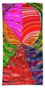 Janca Colors Panel Abstract # 5212 Wtw7 Beach Towel