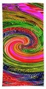 Janca Colors Panel Abstract # 5212 Wtw7abc Beach Towel