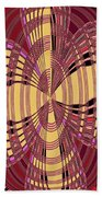 Janca Red And Yellow Abstract  Beach Towel