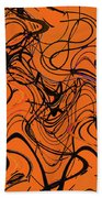 Janca Red Power Tower Abstract Beach Towel