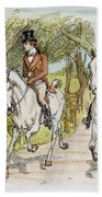 Jane Austen: Illustration Beach Towel