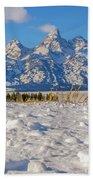 January At The Tetons Beach Towel