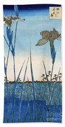 Japan: Iris Garden, 1857 Beach Towel
