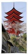 Japan Itsukushima Temple Beach Towel