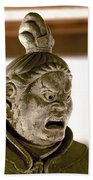 Japan: Warrior Statue Beach Towel