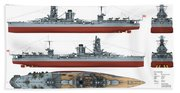 Japanese Battleship Ise Beach Towel