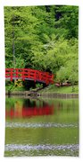 Japanese Garden Bridge  Beach Towel