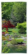 Japanese Garden I Beach Towel