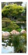 Japanese Garden Panorama 2 Beach Towel