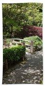 Japanese Garden Path With Azaleas Beach Towel