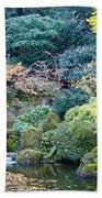 Zen Japanese Garden Beach Towel