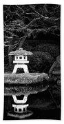 Japanese Garden Reflection Beach Towel