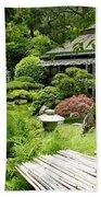 Japanese Garden Teahouse Beach Towel
