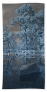 Japanese Tea Garden Infrared Center Beach Towel