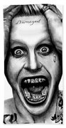 Jared Leto As The Joker Beach Towel