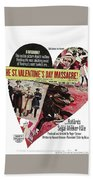 Jason Robards As Al Capone Theatrical Poster The St. Valentines Day Massacre 1967  Beach Towel