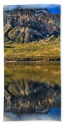 Jasper Pyramid Lake Reflections Beach Towel