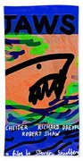 Jaws Poster  Beach Towel
