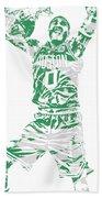 Jayson Tatum Boston Celtics Pixel Art 11 Beach Towel
