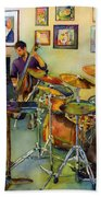 Jazz At The Gallery Beach Towel