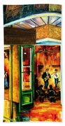 Jazz At The Maison Bourbon Beach Towel by Diane Millsap