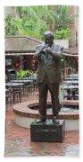 Jazz Greats Al Hirt Fats Domino Pete Fountain Stature New Orleans  Beach Towel