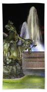 J.c. Nichols Fountain-4981 Beach Towel