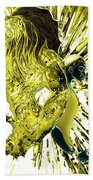Jd And Leo- Inverted Gold Beach Towel