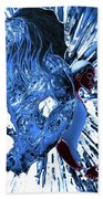 Jd And Leo- Inverted Ice Blue Beach Towel