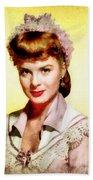 Jean Peters, Vintage Actress Beach Towel