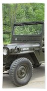 Jeep At Hydes Creek Beach Sheet