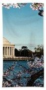 Jefferson Memorial In Spring Beach Towel