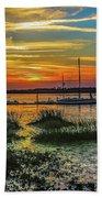 Jekyl Island Sunset Beach Towel