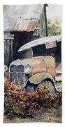Jeromes Tank Truck Beach Towel