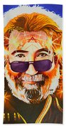 Jerry Garcia-dark Star Beach Towel