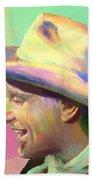 Jerry Jeff The Gypsy Songman Beach Towel
