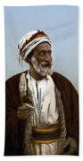 Jerusalem - Sheik Of Palestinian Village Beach Towel