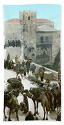 Jerusalem: Bazaar, C1900 Beach Sheet