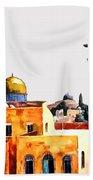 Jerusalem Domes And Minarets Beach Towel