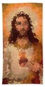 Jesus Abstract Beach Towel
