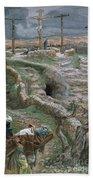 Jesus Alone On The Cross Beach Towel by Tissot