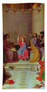 Jesus Among The Doctors Beach Sheet