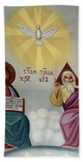 Jesus And Abraham Beach Towel