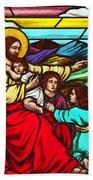 Jesus And Children Beach Towel
