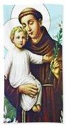 Jesus And Saint Anthony Beach Towel