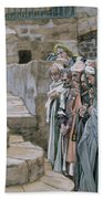 Jesus And The Little Child Beach Towel by Tissot